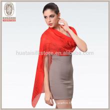 Manteau en satin longue en mousseline de soie foulard palestinien