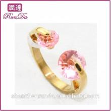 2014 vente en gros de bijoux en diamant rouge anneaux en acier inoxydable
