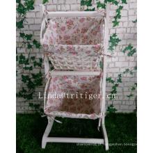 Mobiliário de casa moderna tecidos jornais revista revista flores diversos cestos de suspensão