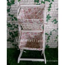 Modern home furniture woven newspaper books magazine flowers sundries hanging baskets