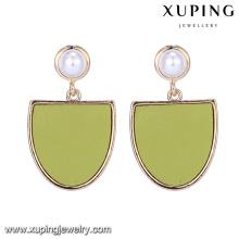E-497 Wholesale fashion jewelry 10 gram gold plated artificial sea pearl earring fan shape drop earrings