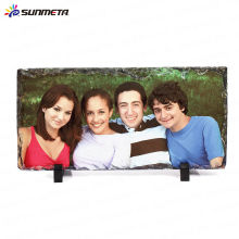 Sunmeta sublimation blank stone photo frame rock frame---manufacturer