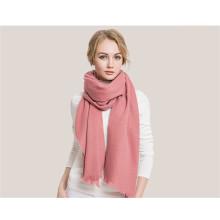 women cashmere plain knitted pashmina shawl scarf
