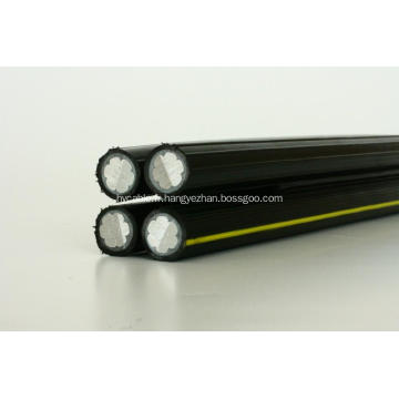 Puissance / PVC / XLPE / aérien / conducteur en aluminium / câble aérien de paquet