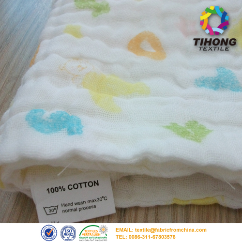 100 cotton muslin fabric for baby