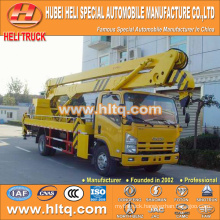 Japan technical 4x2 HLQ51009GJKQ truck mounted hydraulic lifting platform 16M good quality hot sale for sale