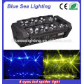 Hot selling Double row 8 eyes led beam moving head light 8 * 12w RGBW 4IN1 Led Spider light