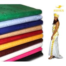 Las ventas calientes 2017 teñieron el algodón Bazin Riche de la tela para los vestidos atractivos africanos