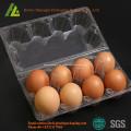 Material de PET bandeja de huevos de plástico desechable transparente