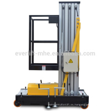 Levantador del mástil de la plataforma de trabajo de aluminio de la elevación personal para la persona sola con el certificado del CE y del ISO