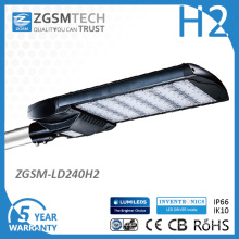 240W Street LED Lightings with IP66 Ik10 110lm/W
