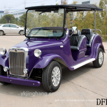 neue 7.5KW 68V 6-Sitzer Passagier elektrische klassische Vintage Sightseeing Golfwagen für den Großhandel