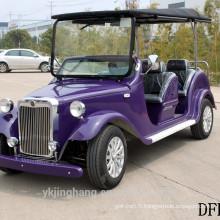 Nouveau 7.5KW 68V 6 places passager électrique classique vintage tourisme golf voiturettes pour la vente en gros