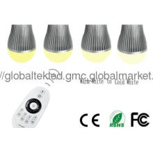 Brightness & Color dimmable led bulb light 2.4G RF remote