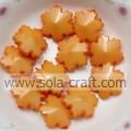 Sólido laranja cores floco de neve plástico espaçador 14mm grânulos para ofícios DIY pulseira jóias de cabelo