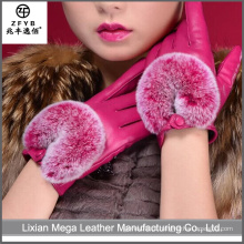 China Wholesale smartphone personalizado luva de couro de tela de toque com pele