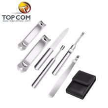 6pcs manicura pedicura conjunto de acero inoxidable herramientas de uñas tijeras cortador de uñas dedo del pie