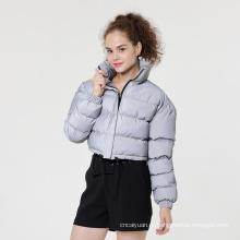 Модное женское светоотражающее пальто с пузырьковой подкладкой