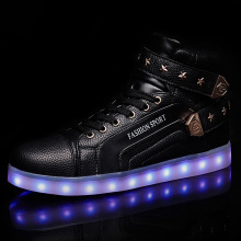 LED Sneaker Ankle Boots For Women Men