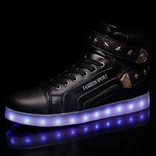 Pergelangan kaki LED Sneaker sepatu untuk laki-laki perempuan