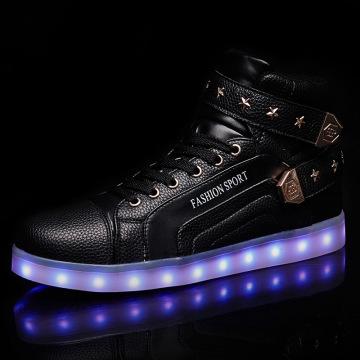 LED Sneaker Ankle Boots For Women Men