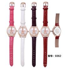 SKONE 9362 Fashion Eiffel Tower pattern watches ladies watch with zircon arround the bezel