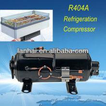 Congélateur commercial avec CE RoHS R404A compresseur hermétique horizontal congélateur 1hp