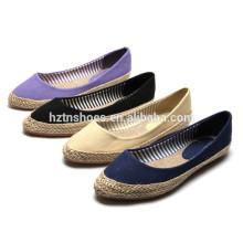 Sweet colors canvas sneaker women's alpargata espadrille shoe fashion flats