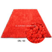 Polyester Rug Dengan Rich Coloration