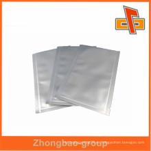 De plástico de aluminio pequeña hoja de aluminio sellado al vacío bolsas china fabricante