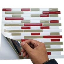 Smart waterproof backsplash peel mosaic 3d sticker tile