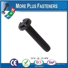 Made in Taiwan Slotted Pan Head Machine Screw Stainless Steel Slotted Pan Head Machine Screw