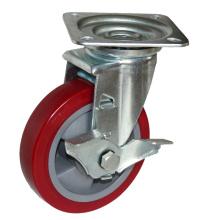 Roulette industrielle robuste de 7 po avec roues en polyuréthane