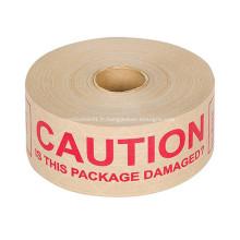 Ruban en papier gommé kraft auto-adhésif imprimé sur mesure