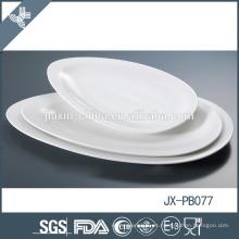 paté de porcelana blanca, placa de pizza, placa de estilo coreano, plato de vajilla de hotel