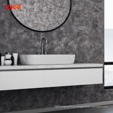 Solid Wood single bathroom vanity and sink set