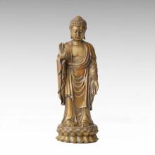 Escultura de bronce de Buda Tathagata decoración de latón de estatua Tpfx-B96
