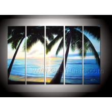 Декоративное искусство холст Coconut живопись маслом морской масляной живописи на холсте (SE-197)