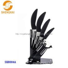 6pcs ceramic knife set with acrylic block