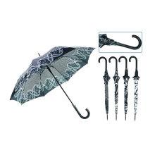 Gerader automatischer Black & White Design Regenschirm (YS-SA23083923R)