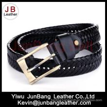 3.5cm Width Men′s German Bond Braided Leather Belt
