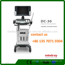Mindray DC-30 3D / 4D Trolley Farb-Ultraschall-Maschine mit 15-Zoll-LED-Monitor