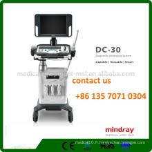 Mindray DC-30 3D / 4D Trolley à ultrasons couleur avec moniteur à LED de 15 pouces