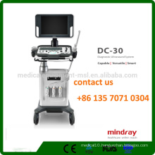 Mindray DC-30 3D/4D Trolley color ultrasound machine with 15-inch LED Monitor