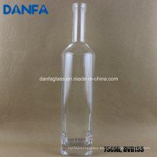Botella de licor de vidrio blanco extra de 750 ml con bartop