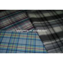 popelín de algodón 40 * 40 133 * 72 120 * 80 hilado de calidad peinada teñido tela de cuadros grandes