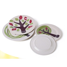 (BC-P1026) High Quality Bamboo Fiber Tableware Plate