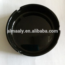 black colored ceramic ashtray