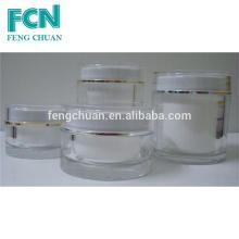 Brosse extérieure acrylique de conception classique Bocal cosmétique bon marché 15g 50g 100g