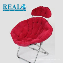 Realsport high quality home furniture folding garden steel moon chair